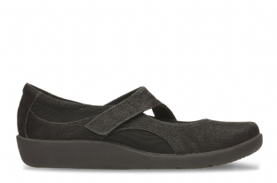 Clarks Womens Sillian Bella Black Shoes